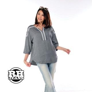 【雪莉亞】韓國極簡單麻棉照型上衣(棉麻前短後長上衣)