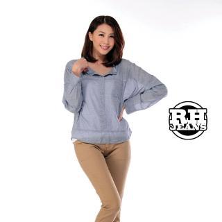 【雪莉亞】韓國極簡單麻棉照型長袖罩衫(棉麻親膚長袖罩衫)