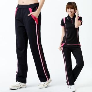 【遊遍天下】台灣製女款抗UV涼爽速乾彈性長褲P126黑(M-3L)