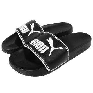 【PUMA】拖鞋 Leadcat 休閒運動 基本款 海灘沙灘 黑白 男鞋(36026301)