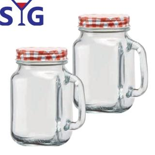 【SYG】多功能梅森杯玻璃罐500ml(二入組)