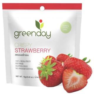【Greenday】草莓凍乾12g(泰國必買超人氣水果乾)