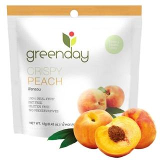 【Greenday】水蜜桃凍乾12g(泰國必買超人氣水果乾)