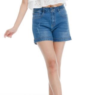 L'LAR輕薄超彈透氣牛仔短褲