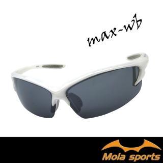 【Mola Sports】MAX_WB(時尚墨鏡擊防塵抗UV護目鏡 防護眼鏡騎行擋風)