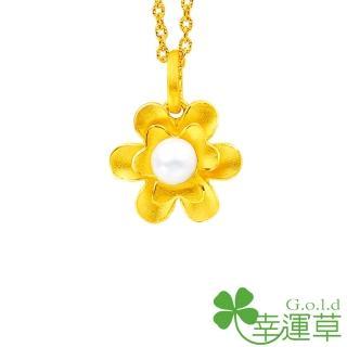 【幸運草clover gold】佳麗 珍珠+黃金 鎖骨鍊墜