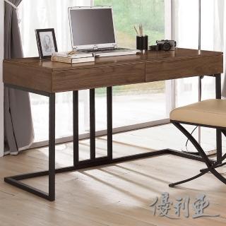 【優利亞-艾德胡桃】4尺書桌
