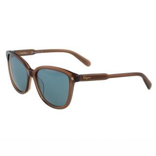 【Salvatore Ferragamo】- 時尚太陽眼鏡(茶色)