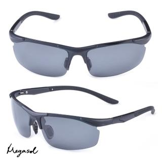 【MEGASOL】瑞士TR90偏光防斷防爆太陽眼鏡(TR8002 - 4色任選)