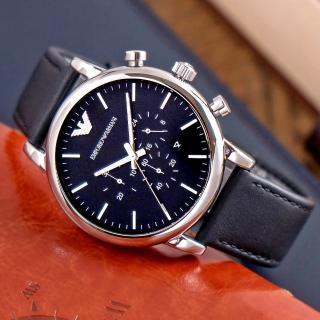 【ARMANI】型男潮流計時皮帶腕錶(AR1828)