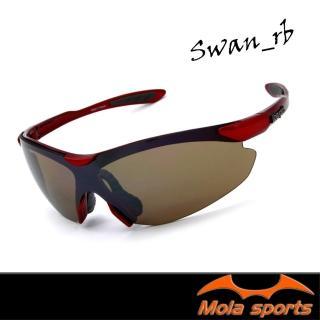 【Mola Sports】SWAN-RB(時尚墨鏡擊防塵抗UV護目鏡 防護眼鏡騎行擋風)