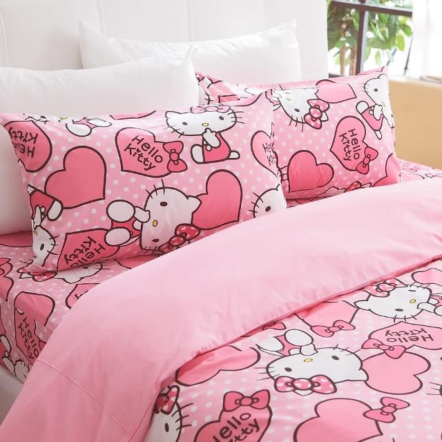 【HO KANG】三麗鷗授權床包被套 雙人四件式組(粉紅佳人)