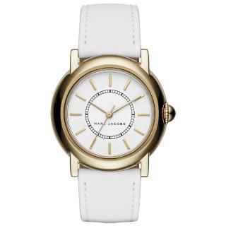 【MARC By Marc Jacobs】時線交錯時尚腕錶-金框白x白色錶帶(MJ1449)