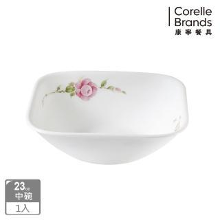 【美國康寧 CORELLE】田園玫瑰方形23oz碗(2323)