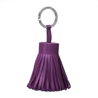 【HERMES】Carmen系列流蘇造形山羊皮鑰匙圈/吊飾(葡萄紫H327108A-PURPLE)