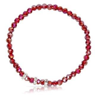 【A1寶石】晶鑽幸運水晶系列-提升財運-增加好桃花貴人運(鴿血紅-含開光)