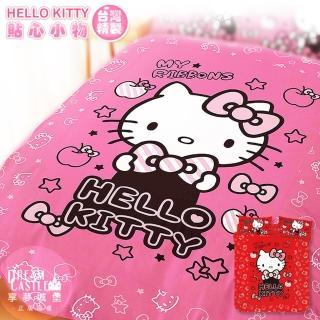 【享夢城堡】HELLO KITTY 貼心小物系列-單人三件式床包涼被組+冷氣毯(粉.紅)