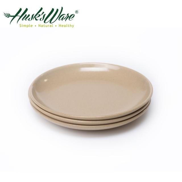 【美國Husk's ware】稻殼天然無毒環保深圓盤7吋(3入組)