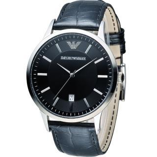 【EMPORIO ARMANI】Classic 簡約內斂時尚腕錶(AR2411)