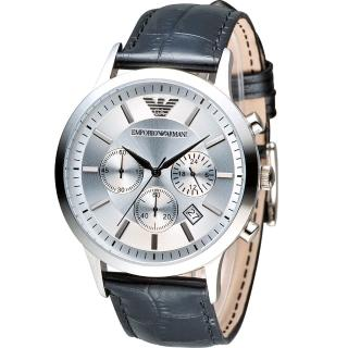 【EMPORIO ARMANI】Classic 簡約內斂計時腕錶(AR2432)