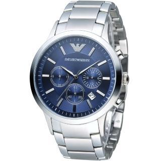 【EMPORIO ARMANI】Classic 時尚計時腕錶(AR2448)