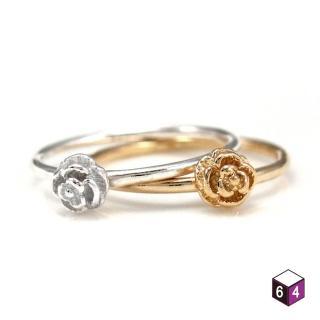 【ART64】戒指 玫瑰花誓 925純銀戒指 2色可選