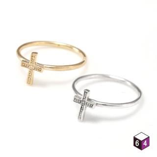 【ART64】戒指 小巧十字架 925純銀戒指 2色可選