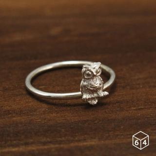 【ART64】戒指  貓頭鷹 925純銀戒指