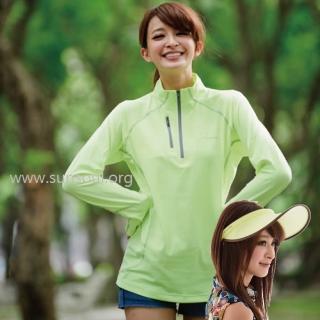 【SUNSOUL】光能傑克帽+長袖拉鍊運動上衣組-M/L/XL(黃光)