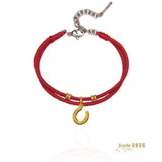 【J'code 真愛密碼】金牛座-U型馬蹄編織手鍊(瑪法達星座幸運物)