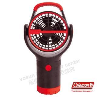 【美國 Coleman】BATTERYLOCK杯架風扇.小電扇.移動便攜式風扇(CM-27315 紅)