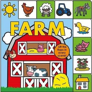 【Song Baby】Lift-The-Flap Tab:Farm 森林農場(硬頁翻翻操作書-英國版)
