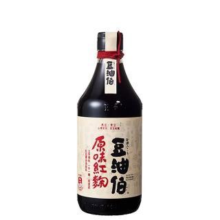【豆油伯】原味紅麴醬油500ml(在地農民契作非基改黃豆/黑豆/小麥。台灣製造)