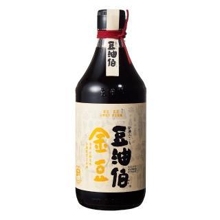 【豆油伯】金豆醬油500ml(在地農民契作非基改黃豆/黑豆/小麥。台灣製造)