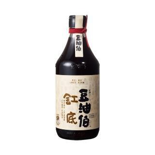 【豆油伯】缸底醬油500ml(在地農民契作非基改黃豆/黑豆/小麥。台灣製造)