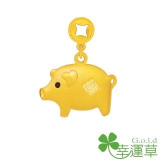 【幸運草clover gold】富豬 黃金墜
