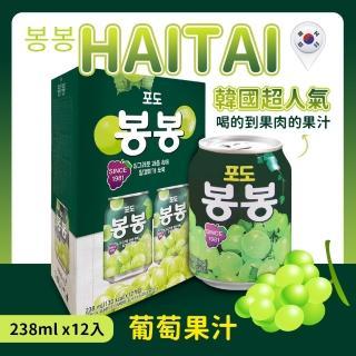 【韓國HAITAI】葡萄果汁(238ml*12入/組)