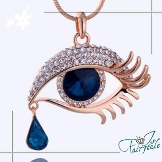 【伊飾童話】媚惑藍眼淚*水晶眼矇長鍊