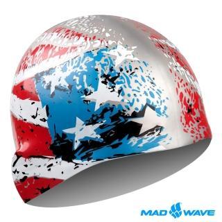 【俄羅斯MADWAVE】成人矽膠泳帽(USA)