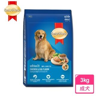 【SMARTHEART】慧心犬糧 - 雞肉+雞蛋口味成犬配方(3KG)