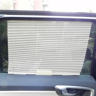 【威力鯨車神】汽車伸縮百褶窗簾/汽車遮陽防曬百葉窗簾