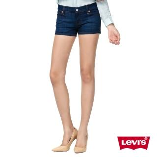 【Levis】女款深藍水洗丹寧牛仔短褲