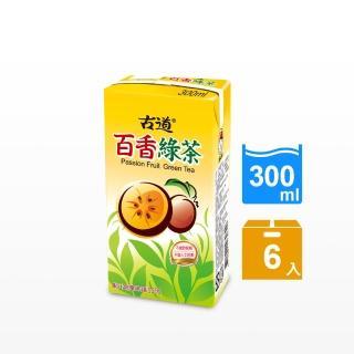 【古道】百香綠茶300ml*6瓶