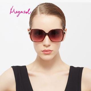【MEGASOL】寶麗萊UV400香奈兒設計師款防眩偏光太陽眼鏡(蝶翼珍珠系列-MS1618)