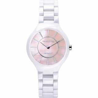 【Relax Time】RT33 嶄新系列陶瓷腕錶-粉貝x白/32mm(RT-33-9L)