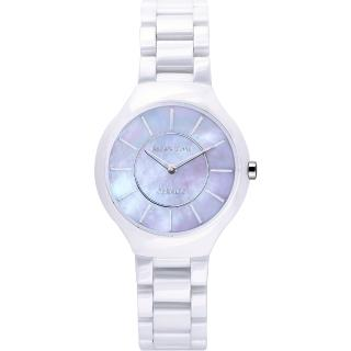 【Relax Time】RT33 嶄新系列陶瓷腕錶-紫貝x白/32mm(RT-33-10L)