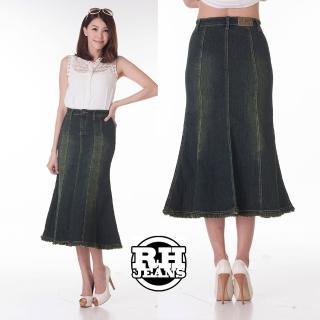 【雪莉亞】牛仔裙(人魚型修身牛仔裙)