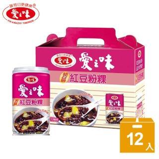 【愛之味】蒟蒻紅豆粉粿禮盒(340g*12入)