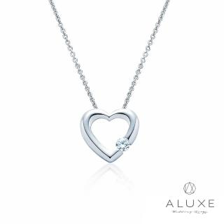 【A-LUXE 亞立詩】Petite系列 The Heart白K金美鑽項鍊