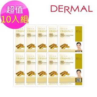 【DERMAL】黃金舒緩緊緻面膜10入組(人氣面膜)
